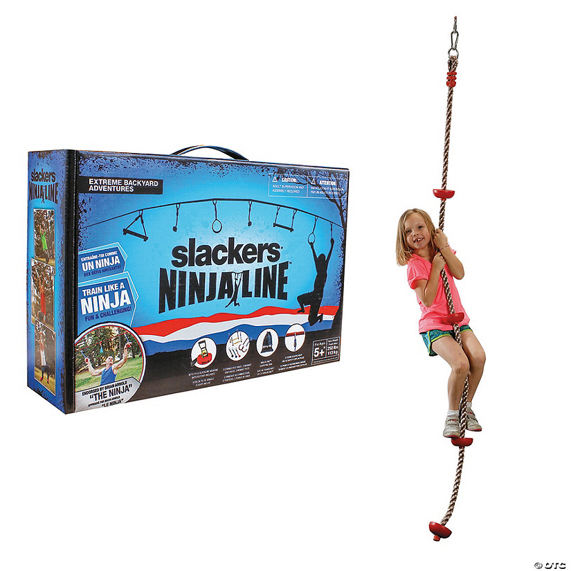 Ninja Line with Climbing Rope: Set of 2
