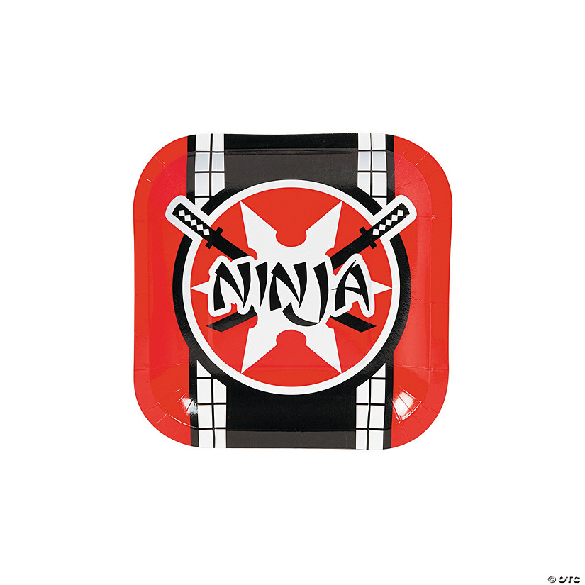 Ninja Warrior Paper Dessert Plates Audio Thumbnail