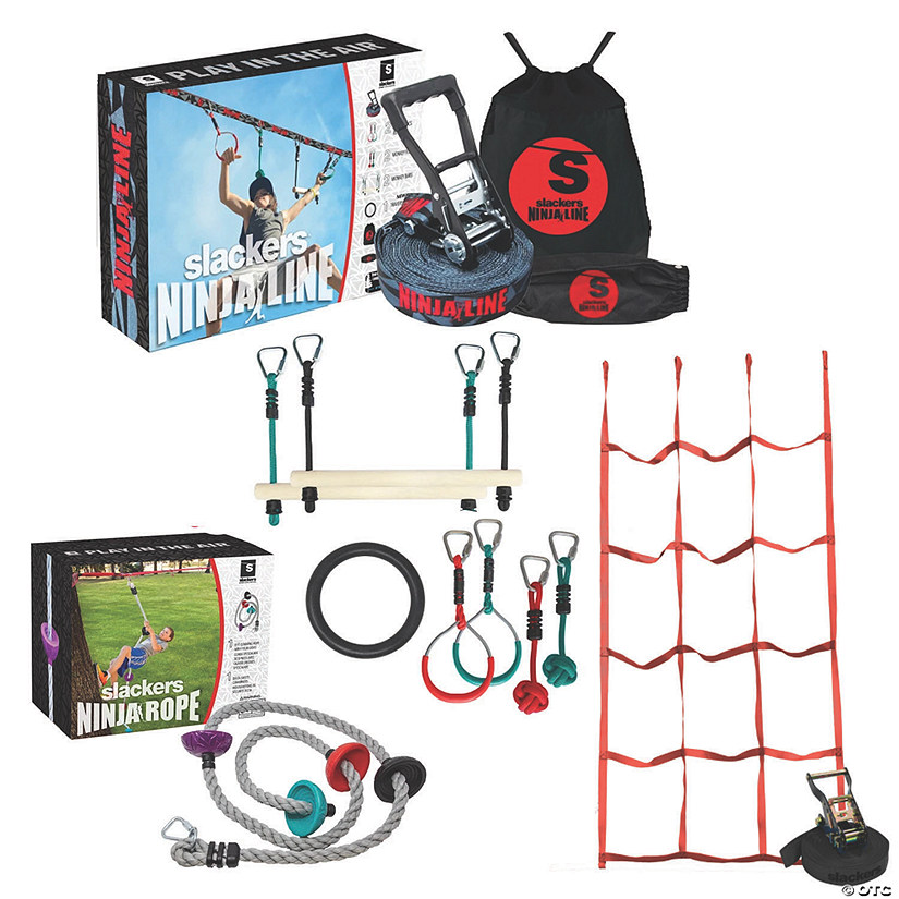 Ninjaline Intro Set, Climbing Rope and Cargo Net: Set of 3 Audio Thumbnail
