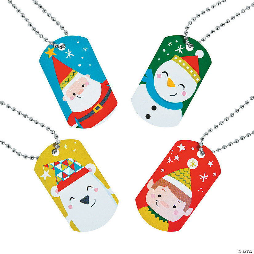 Nordic Noel Character Dog Tag Necklaces Audio Thumbnail