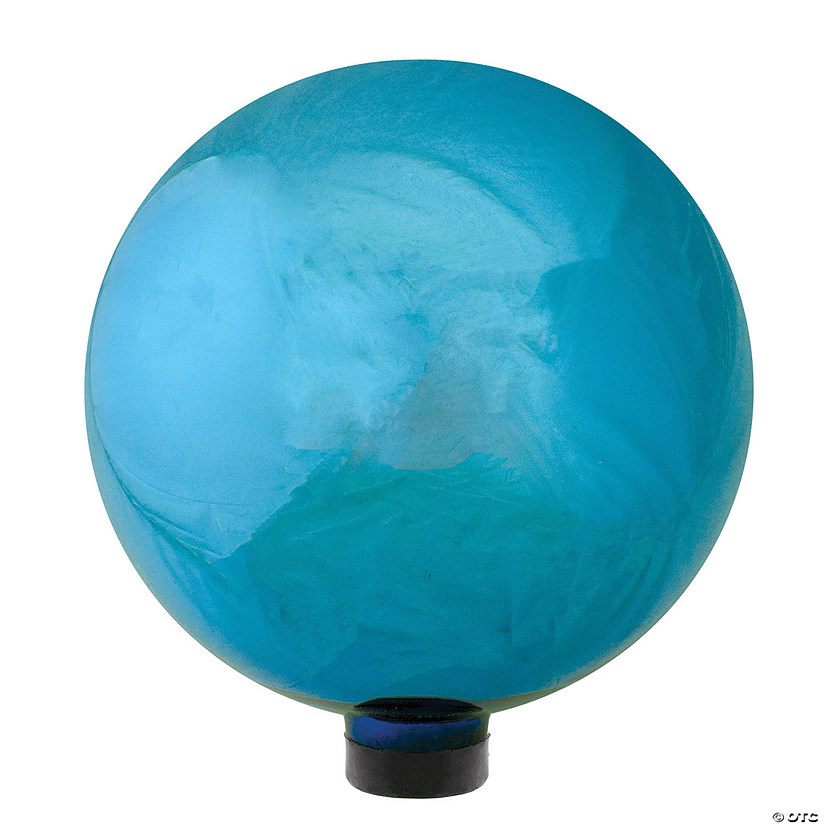 "Northlight 10"" Mirrored Turquoise Blue Outdoor Patio Garden Gazing Ball Image Thumbnail"
