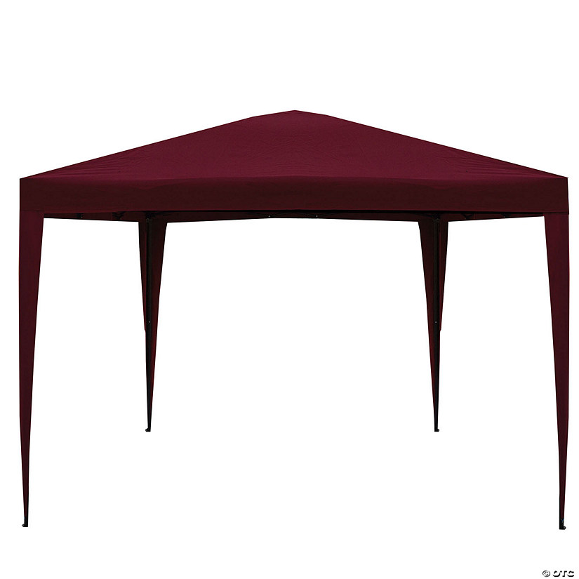 Northlight 10' x 10' Burgundy Pop-Up Outdoor Canopy Gazebo Image Thumbnail