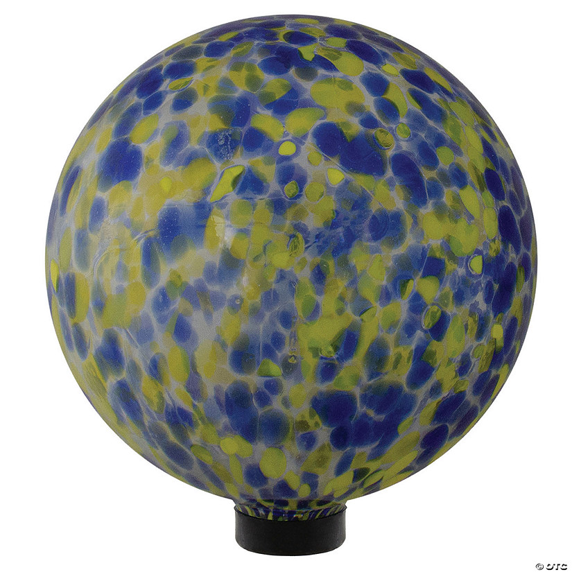 "Northlight 10"" Yellow and Blue Outdoor Patio Garden Gazing Ball Image Thumbnail"