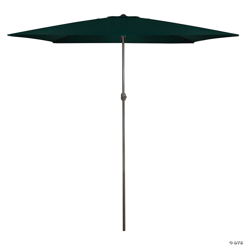 Northlight 10ft x 6.5ft Outdoor Patio Market Umbrella with Hand Crank  Hunter Green Image Thumbnail