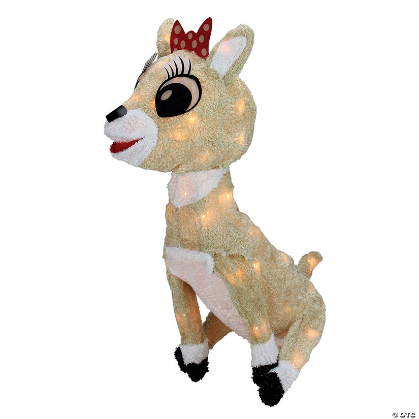 "Northlight - 15"" Pre-lit Rudolph the Red Nosed Reindeer Clarice Christmas Outdoor Decor Image Thumbnail"