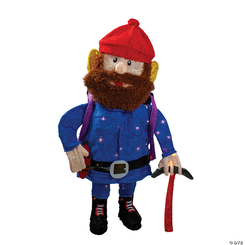 "Northlight - 32"" Red and Blue Lighted Rudolph Nosed Reindeer Yukon Cornelius Christmas Outdoor Decoration - Clear Lights Image Thumbnail"