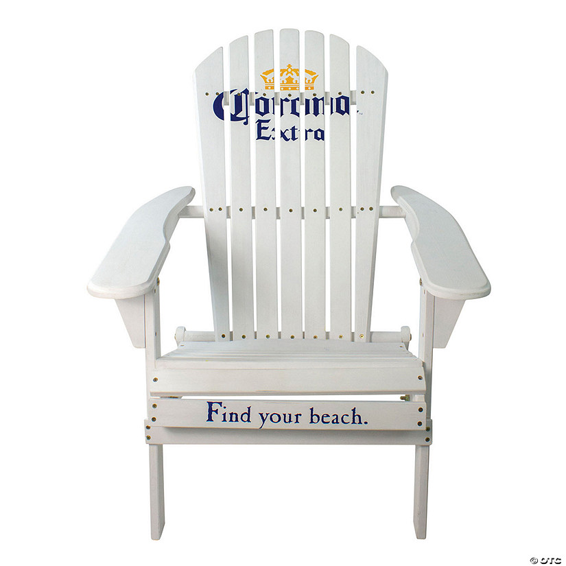 "Northlight 36"" White Corona Classic Folding Wooden Adirondack Chair Image Thumbnail"