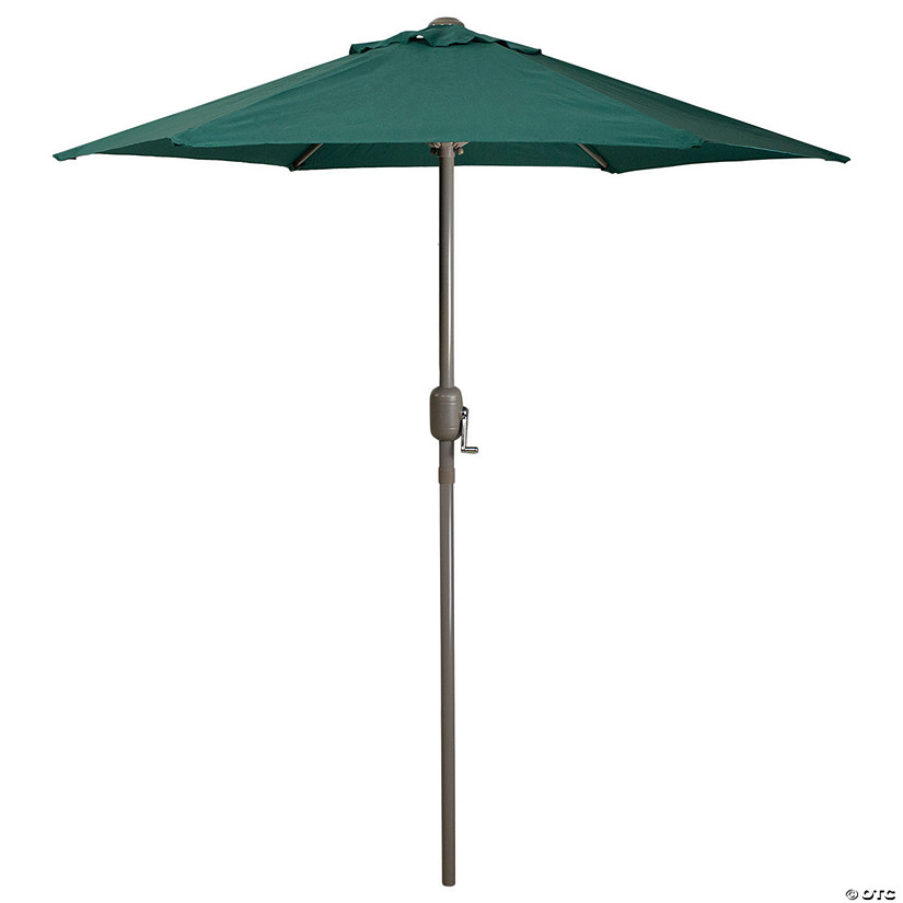 Northlight 6.5ft Outdoor Patio Market Umbrella with Hand Crank  Hunter Green Image Thumbnail