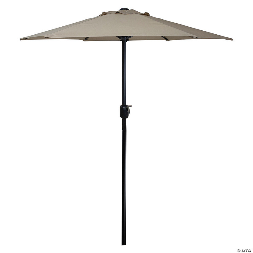 Northlight 6.5ft Outdoor Patio Market Umbrella with Hand Crank  Taupe Image Thumbnail
