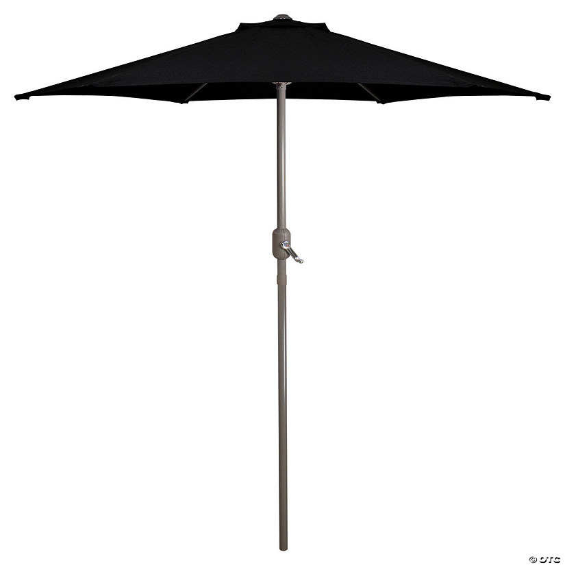 Northlight 7.5ft Outdoor Patio Market Umbrella with Hand Crank  Black Image Thumbnail