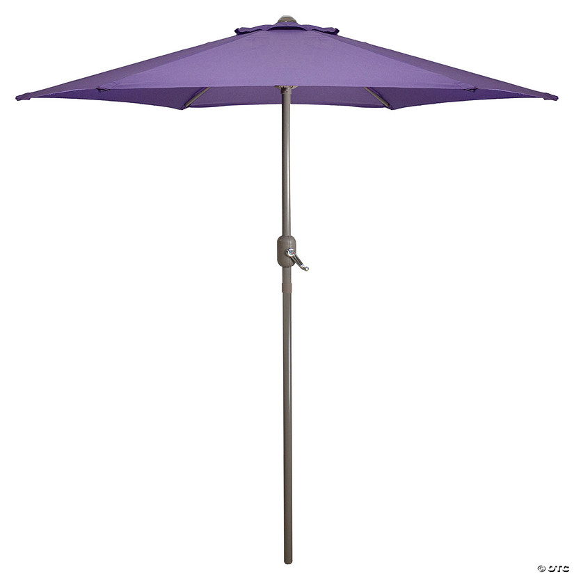 Northlight 7.5ft Outdoor Patio Market Umbrella with Hand Crank  Purple Image Thumbnail