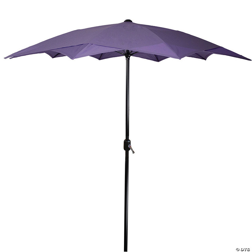 Northlight 8.85ft Outdoor Patio Lotus Umbrella with Hand Crank  Purple Image Thumbnail