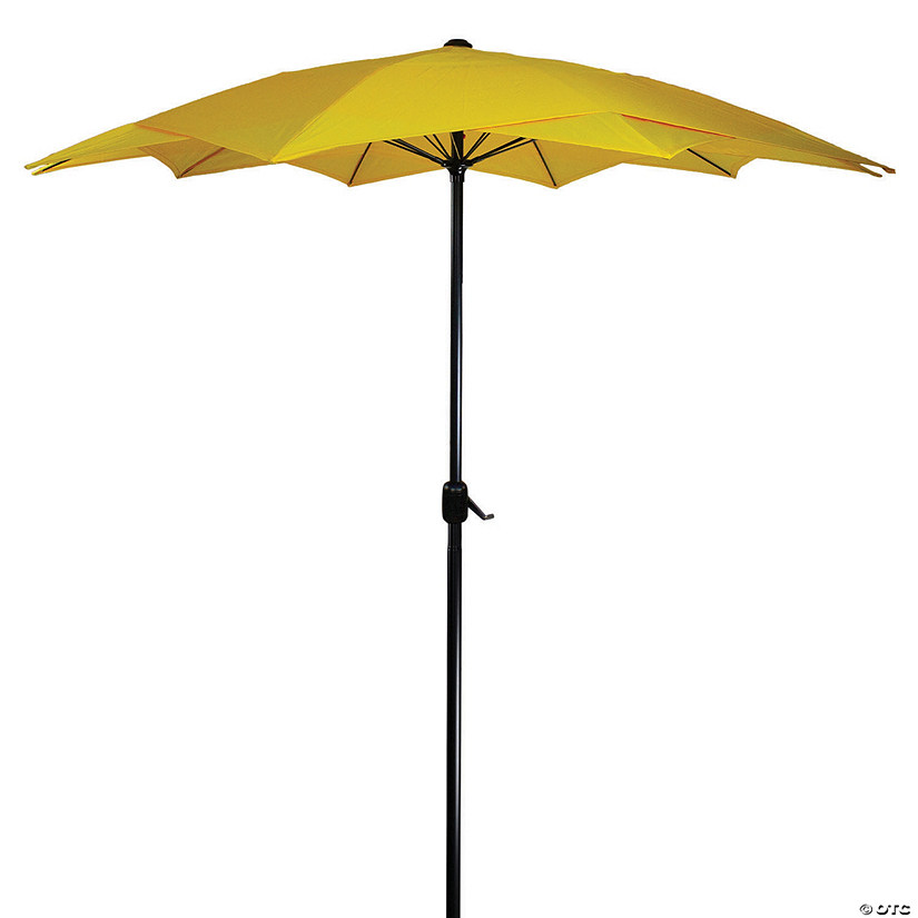 Northlight 8.85ft Outdoor Patio Lotus Umbrella with Hand Crank  Yellow Image Thumbnail