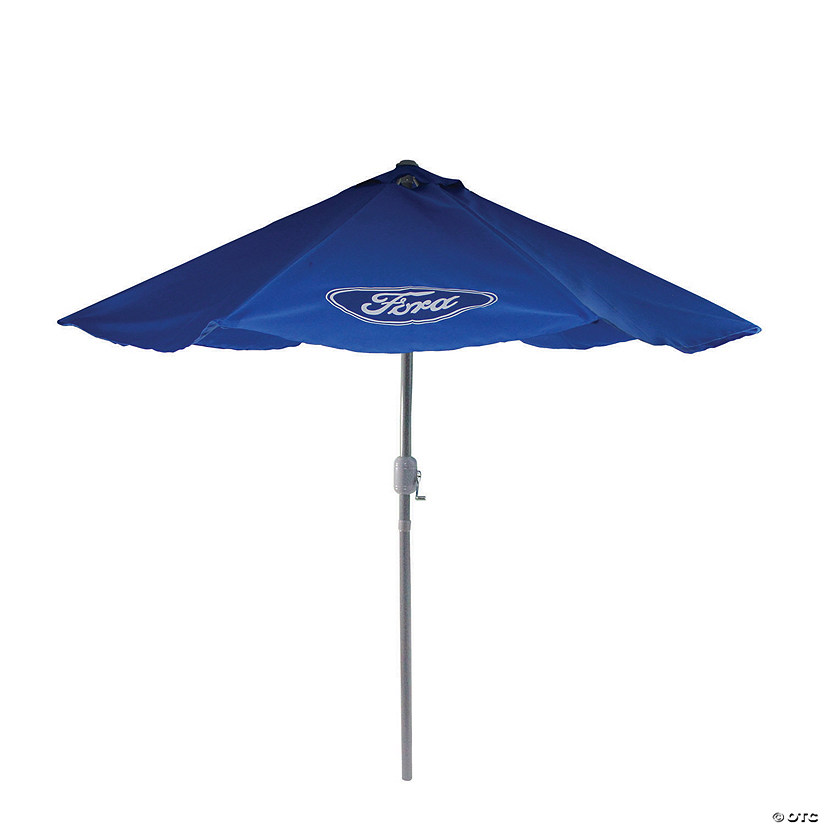 Northlight 9ft Outdoor Patio Ford Umbrella with Hand Crank and Tilt  Blue Image Thumbnail