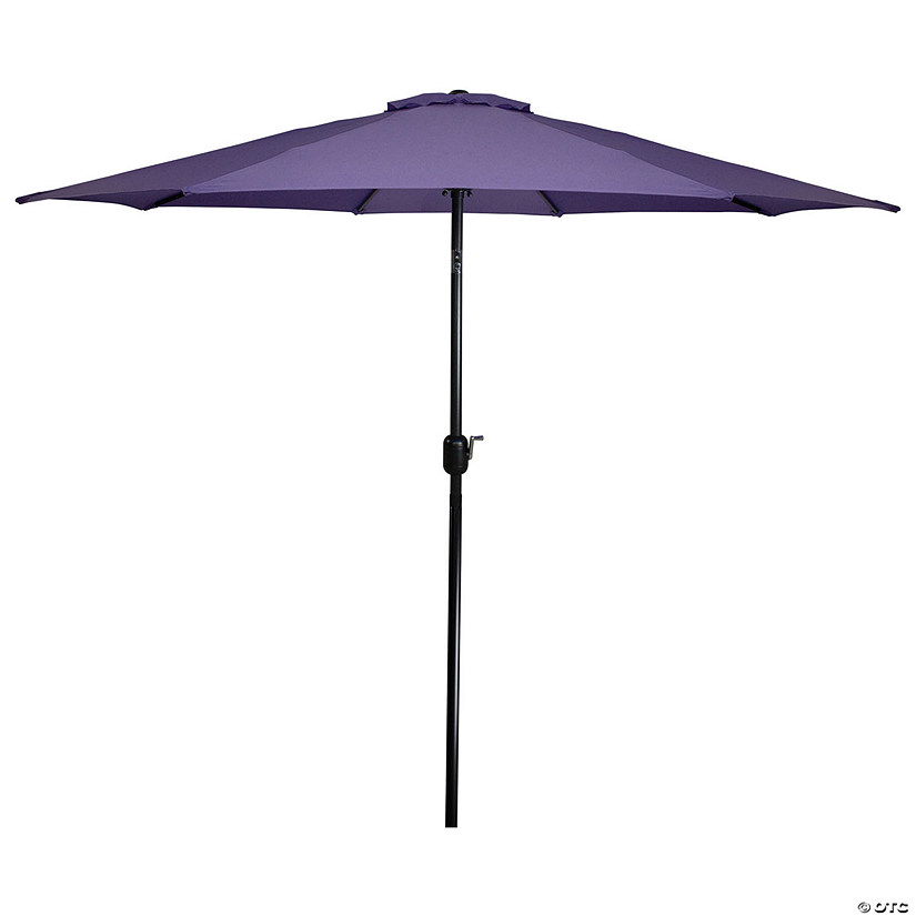 Northlight 9ft Outdoor Patio Market Umbrella with Hand Crank and Tilt  Purple Image Thumbnail