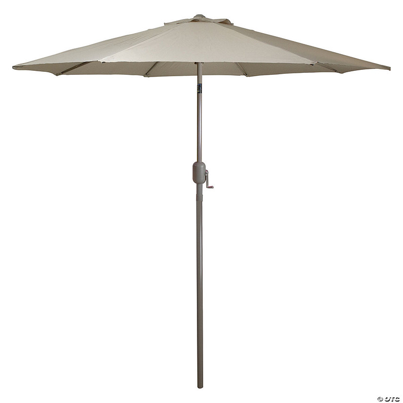 Northlight 9ft Outdoor Patio Market Umbrella with Hand Crank and Tilt  Taupe Image Thumbnail