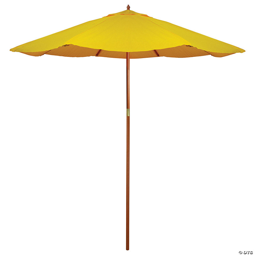 Northlight 9ft Outdoor Patio Market Umbrella with Wood Pole  Yellow Image Thumbnail