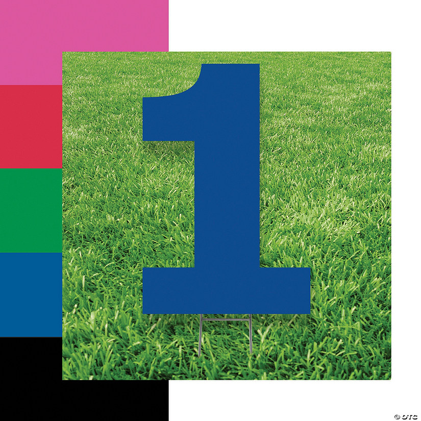 Number 1 Yard Signs Image Thumbnail