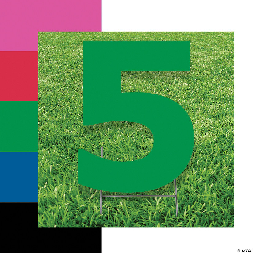 Number 5 Yard Signs Image Thumbnail