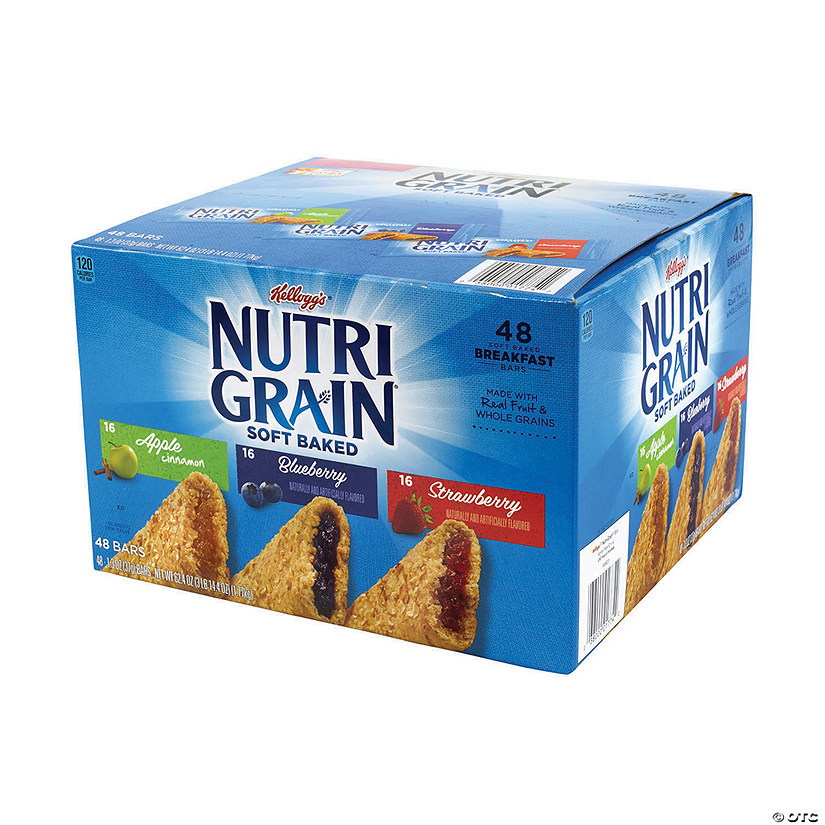 NUTRI-GRAIN Soft Baked Breakfast Bars Variety, 1.3 oz, 48 Count Image Thumbnail
