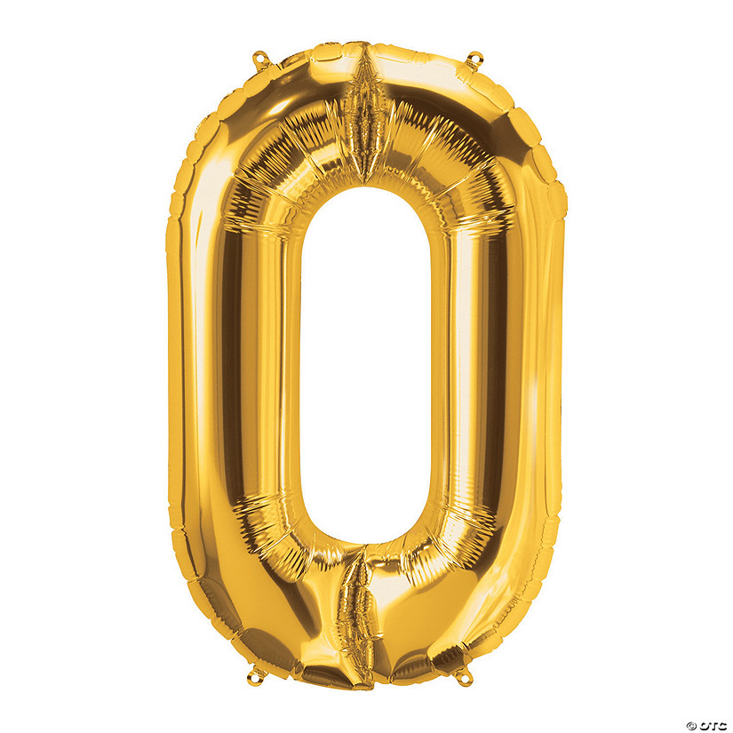 O Gold Letter Mylar Balloon Audio Thumbnail