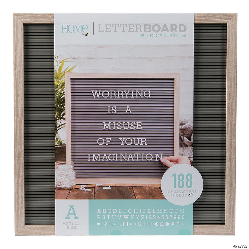 Oak Letter Board Kit - 16""