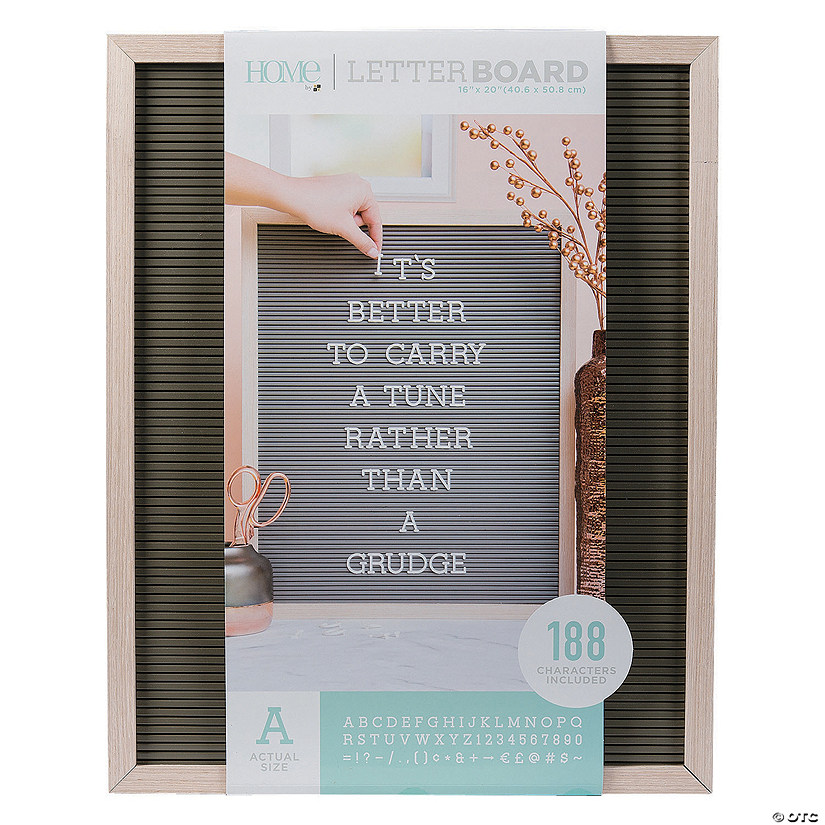 "Oak Letter Board Kit - 20"" Audio Thumbnail"