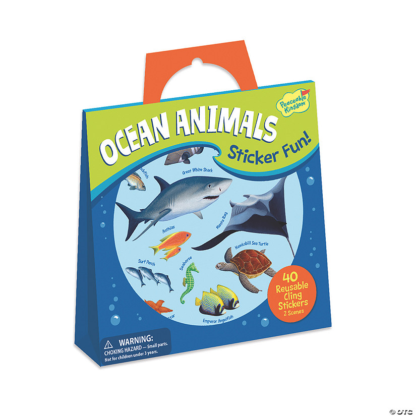 Ocean Animals Reusable Sticker Tote Image Thumbnail