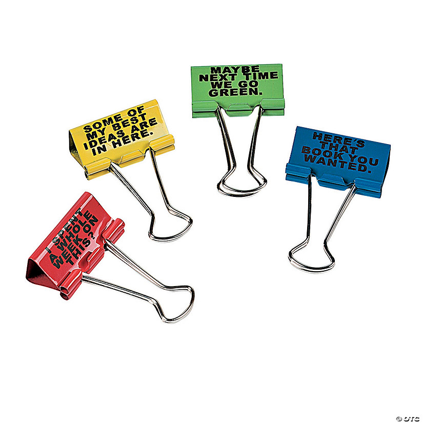 Office Humor Binder Clips - Discontinued