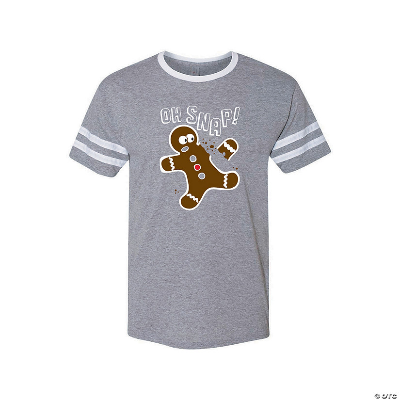 Oh Snap! Gingerbread Adult's T-Shirt Image Thumbnail