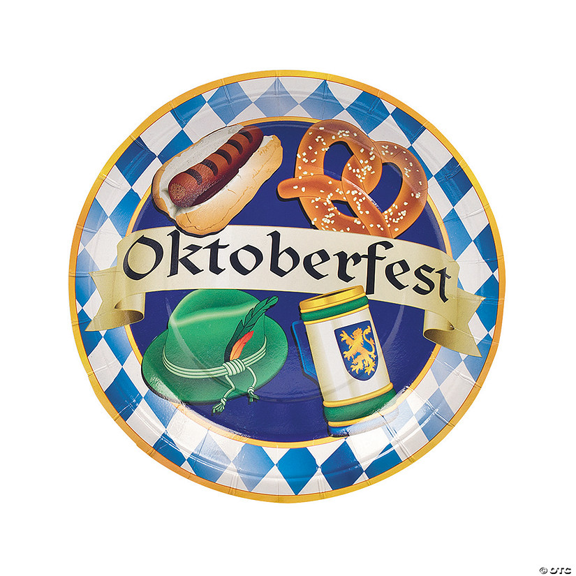 Oktoberfest Party Paper Dinner Plates Audio Thumbnail