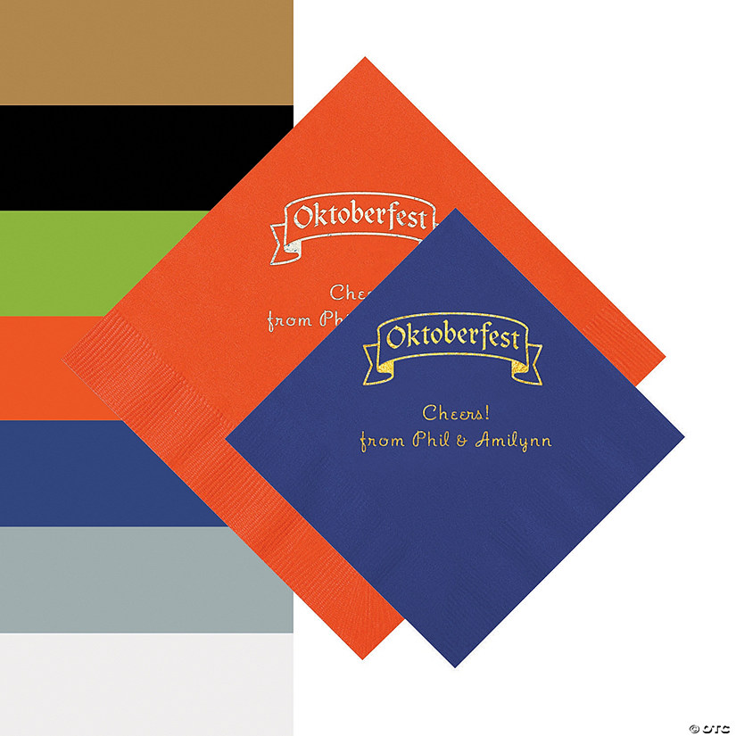 Oktoberfest Personalized Napkins - Beverage or Luncheon Audio Thumbnail
