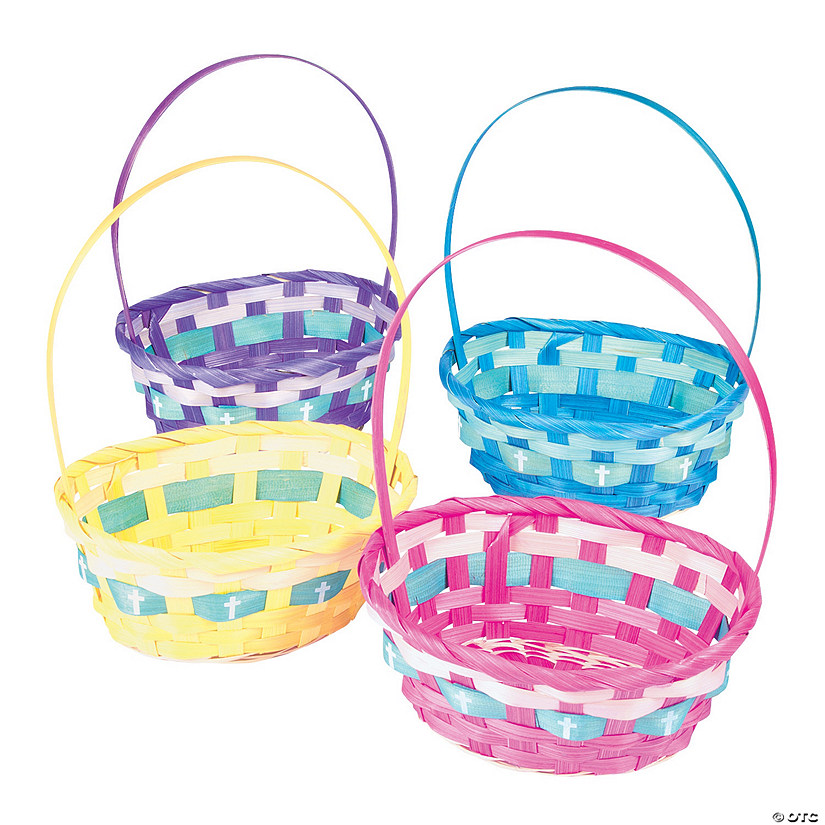 Ombre Easter Baskets with Cross Image Thumbnail
