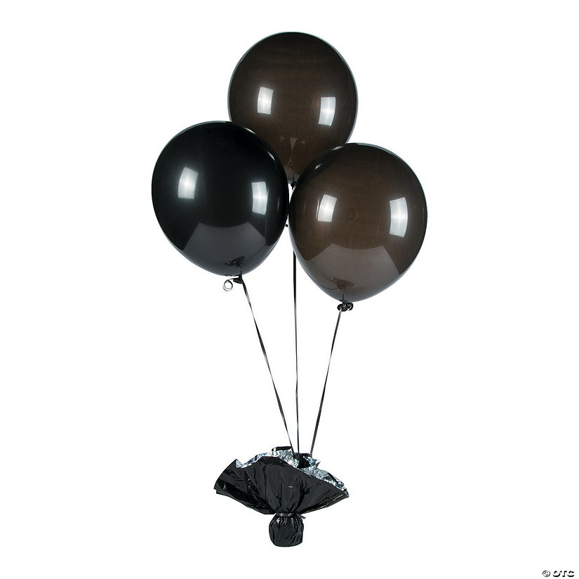"Onyx Black 11"" Latex Balloons Image Thumbnail"