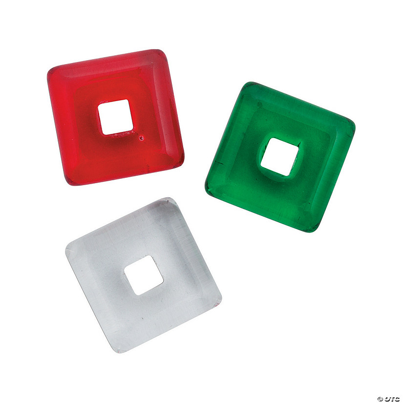 Open Square Beads - 12mm