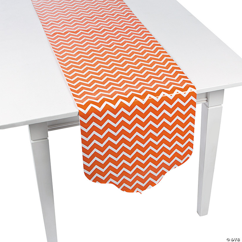 Orange Chevron & Polka Dot Table Runner Audio Thumbnail