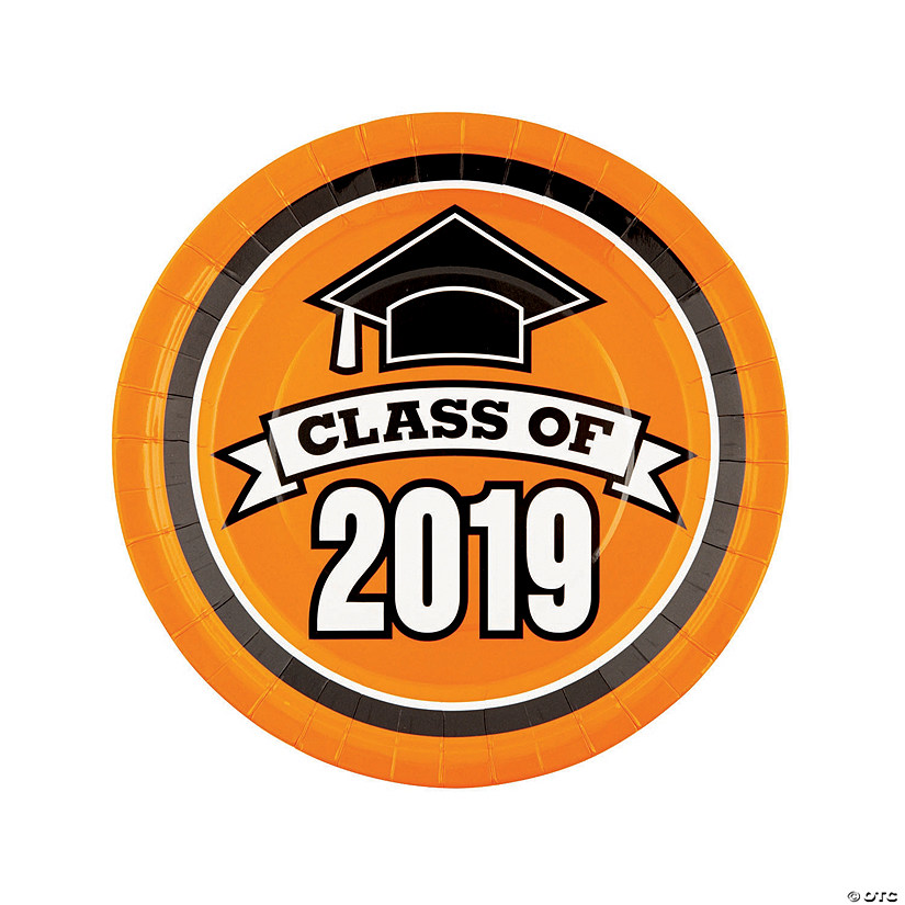 Orange Class of 2019 Paper Dinner Plates Audio Thumbnail