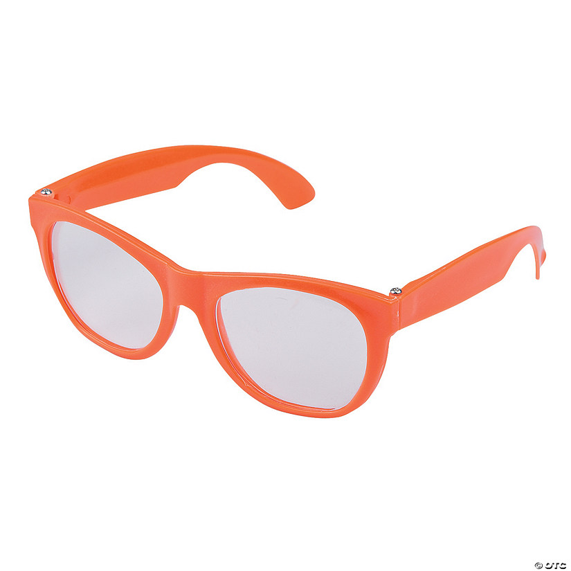 Orange Clear Lens Glasses - 12 Pc. Audio Thumbnail