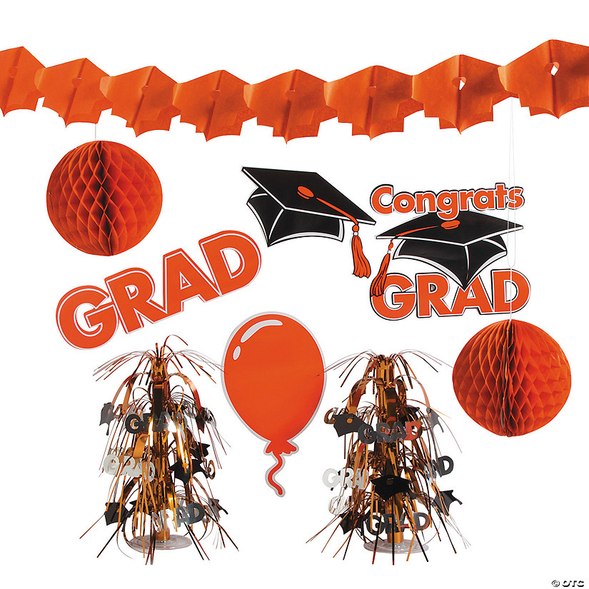 Orange Graduation Decorating Kit Audio Thumbnail