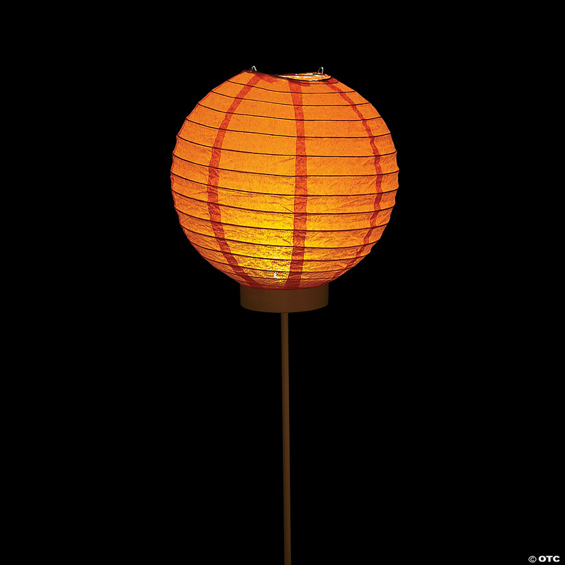 Orange Light-Up Paper Lantern Balloons Audio Thumbnail