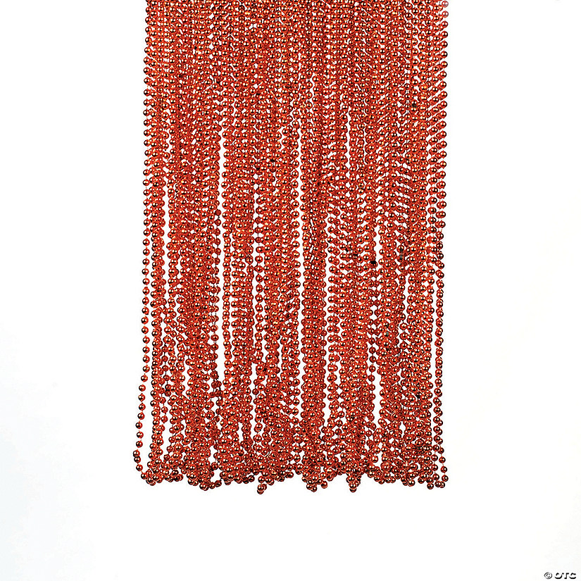 Orange Metallic Beaded Necklaces Image Thumbnail