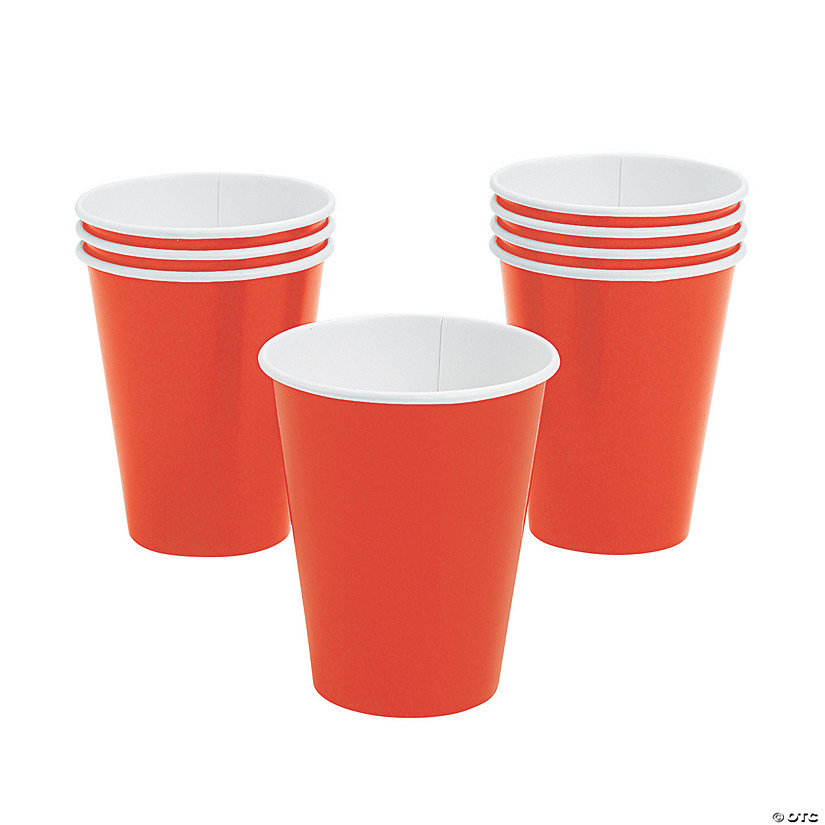 Orange Paper Cups - 24 Ct. Audio Thumbnail