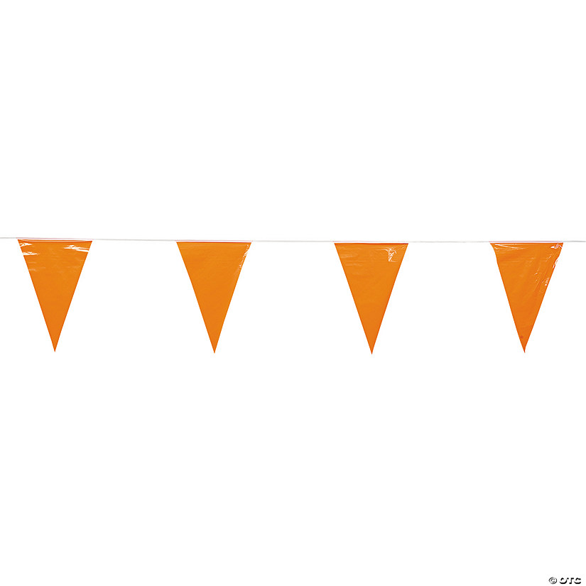 Orange Plastic Pennant Banner