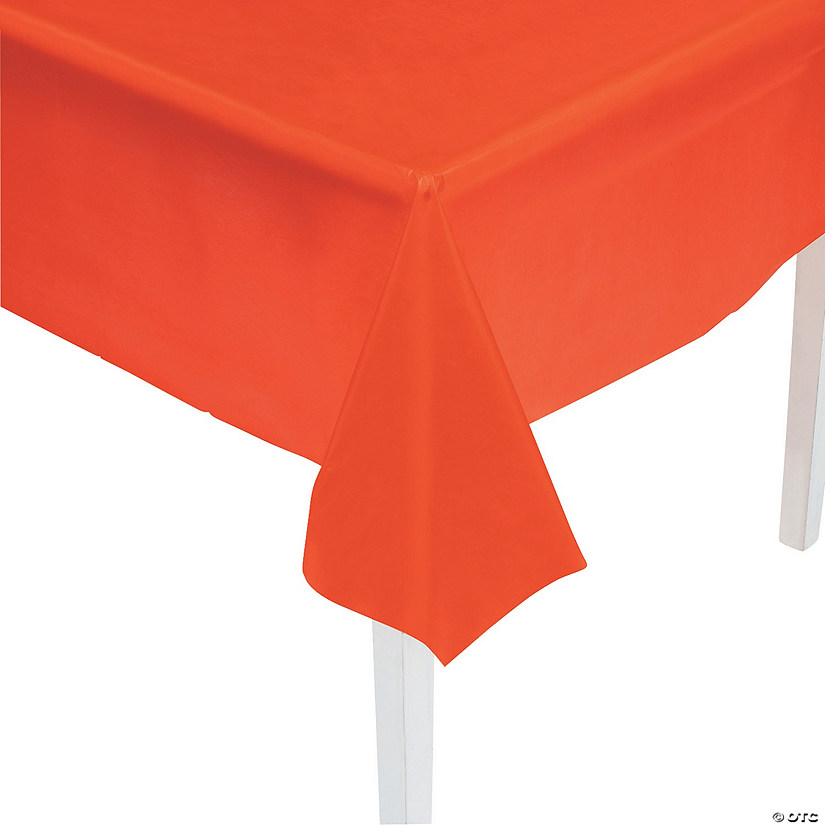 Orange Plastic Tablecloth Image Thumbnail