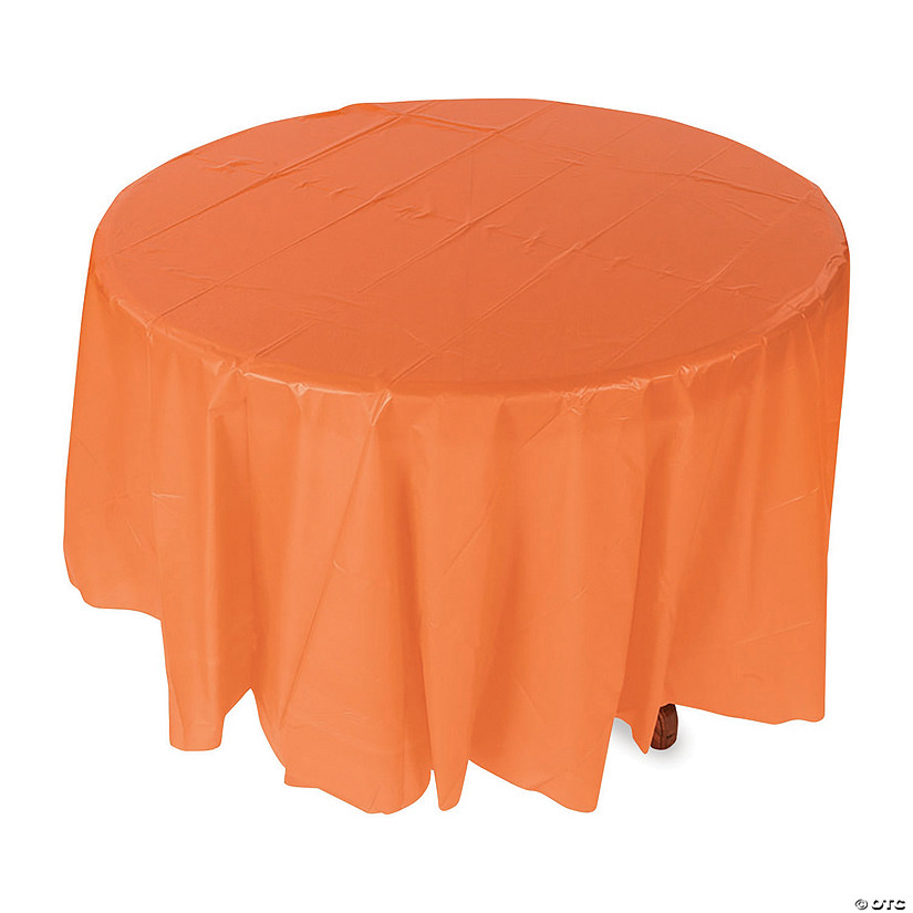 Orange Round Plastic Tablecloth Audio Thumbnail