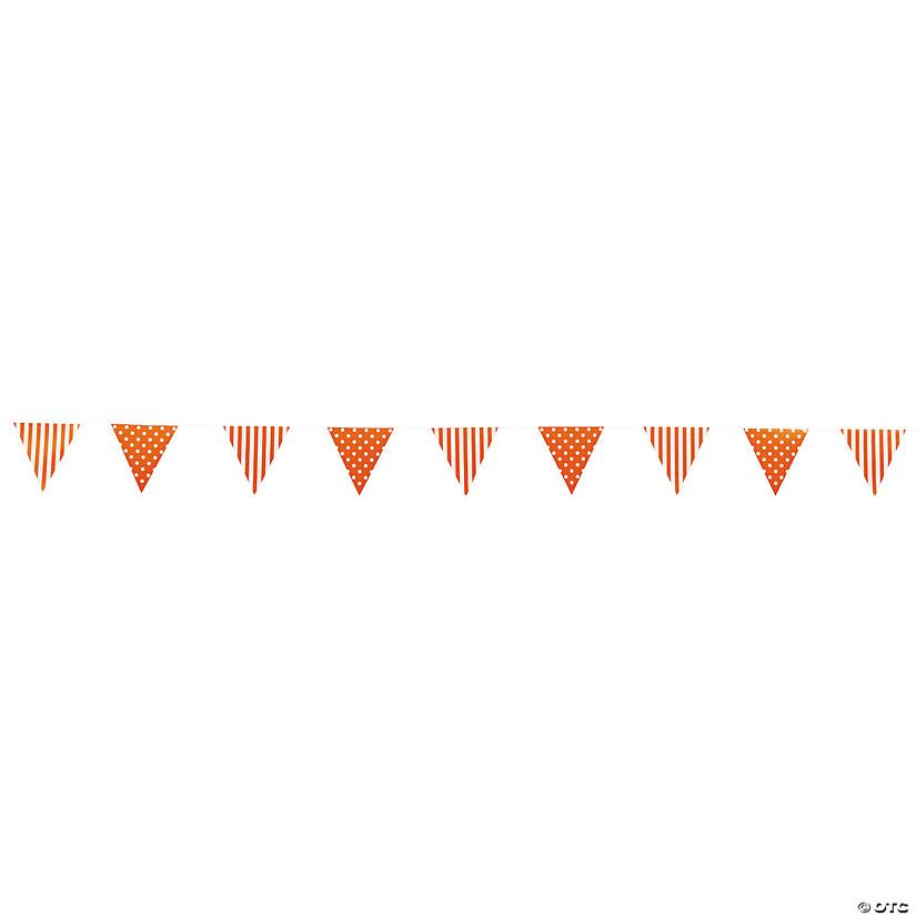 Orange Striped Polka Dot Paper Pennant Banner Discontinued