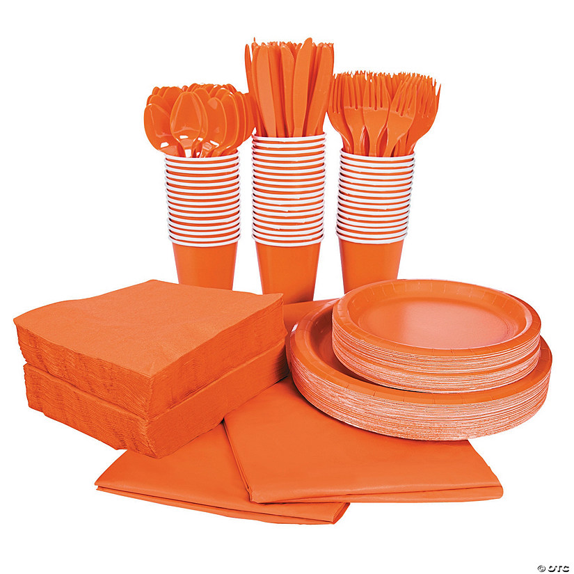 Orange Tableware Party Pack for 48 Audio Thumbnail