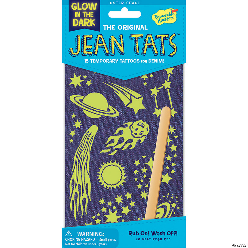 Outer Space Glow-In-The Dark Jean Tats Pack Image Thumbnail