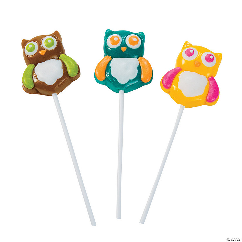 Owl Lollipops