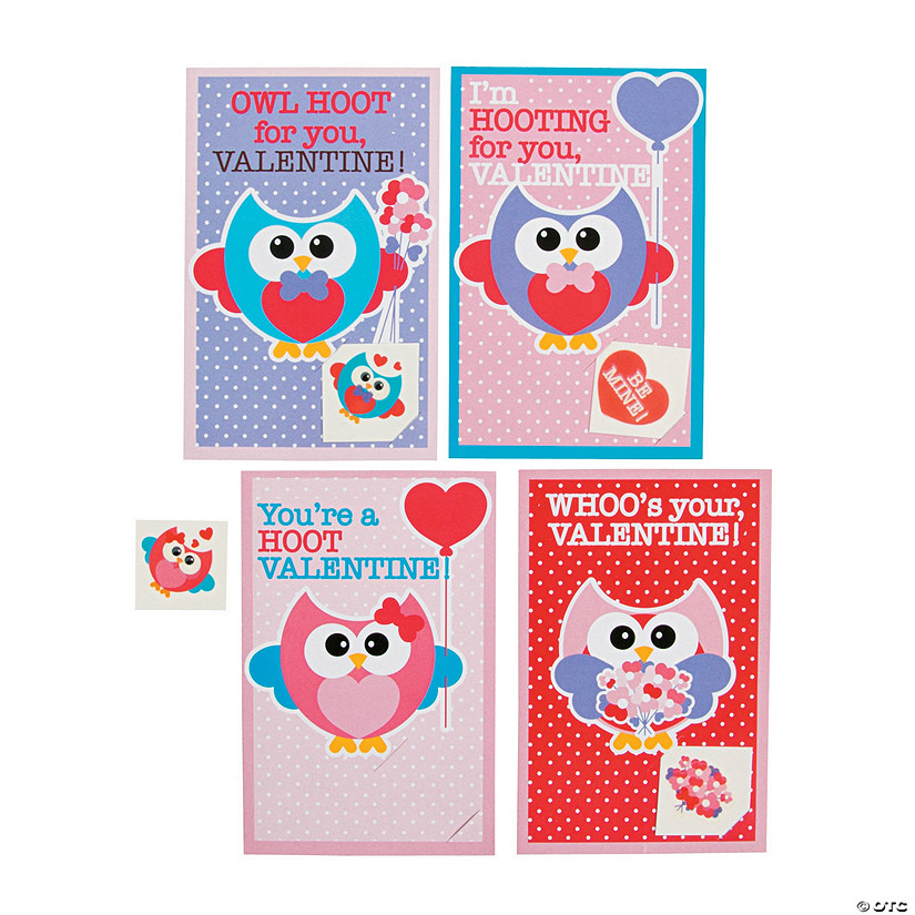 Owl Valentine Cards With Tattoos Discontinued